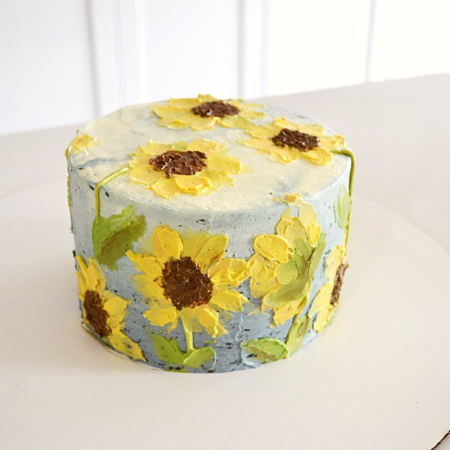sunflower cake ally bakes